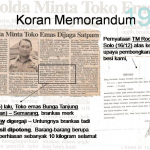 Toko Mas Bunga Tanjung Semarang, 10 kg Emas aman tersimpan